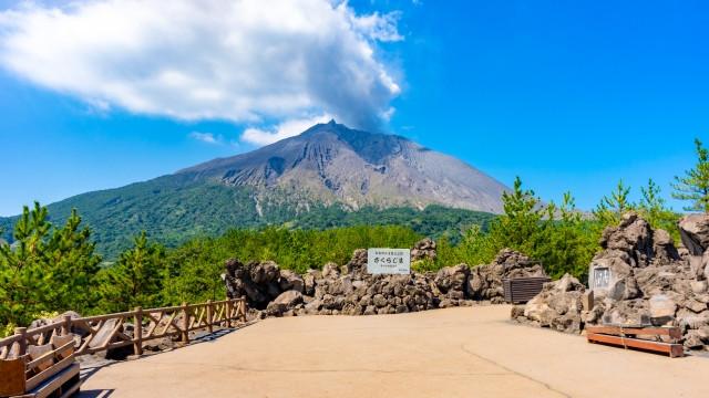 有村溶岩展望所からの桜島